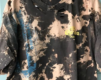 Bleached and Ripped Distressed Corona Extra Shirt