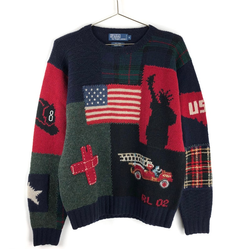 eb39b829a Vintage Polo Ralph Lauren Wool Knit Sweater Size Medium 9 11