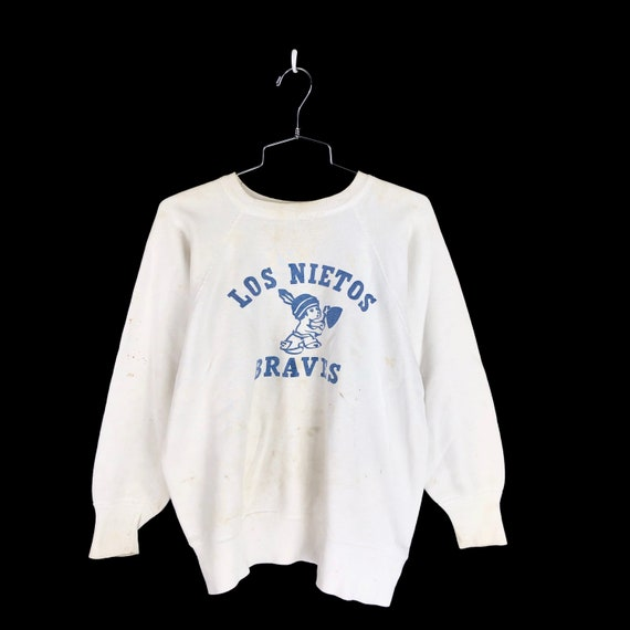 Vintage 1950s Los Nietos Braves Sweatshirt Size Me