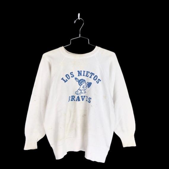 Vintage 1950s Los Nietos Braves Sweatshirt Size M… - image 1
