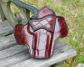 Full Front Alligator - Outside the Waist Band Leather Holster