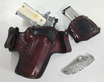 The St. George - Alligator Accent Inside the Waist Band Leather Holster