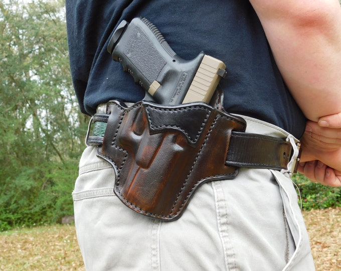 Featured listing image: The Maker's Choice - Outside the Waist Band Leather Holster