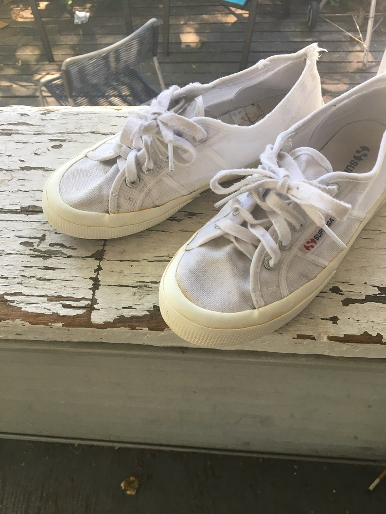 VTG 80s Superga sneakers size EU 37 (6.5 7 US women's) white canvas