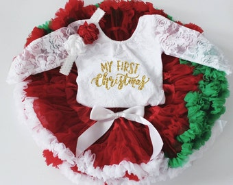 811926d0368 Baby Girl Christmas Outfit in wine burgundy and Gold - My First Christmas - Christmas  Onesie - Baby s 1st Christmas - Christmas Photos