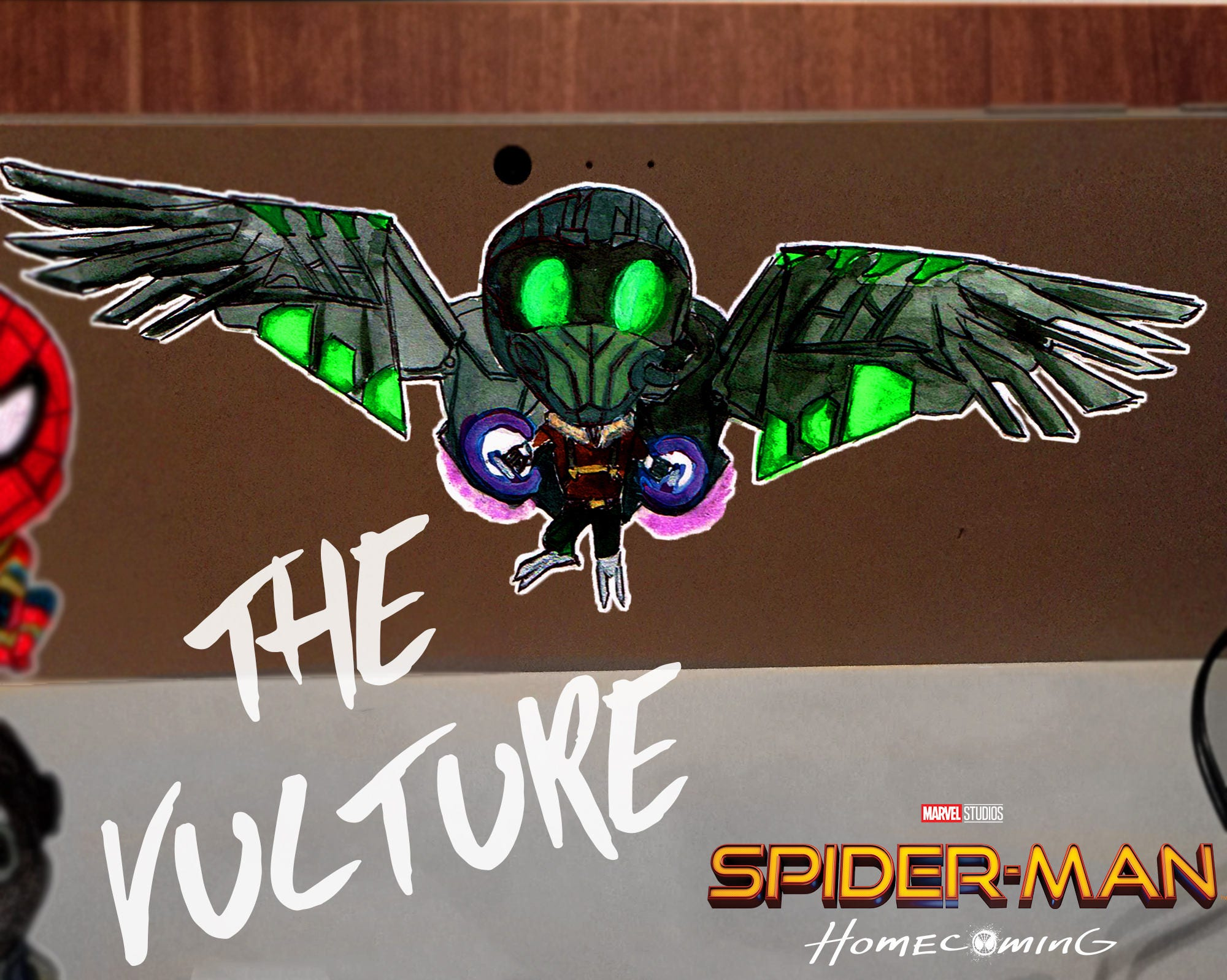 THE VULTURE Chibi Spider-Man Homecoming DecalFree Shipping | Etsy