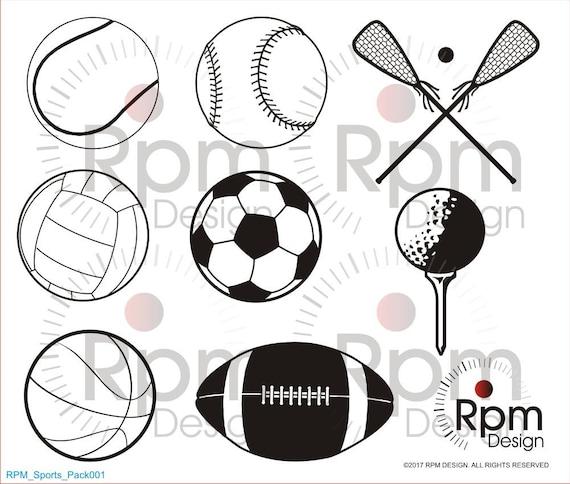 Sport Svg Datei Baseball Fussball Golf Volleyball Basketball Lacrosse Tennis Fussball Cnc Laser Cricut Silhouette Schneidbare