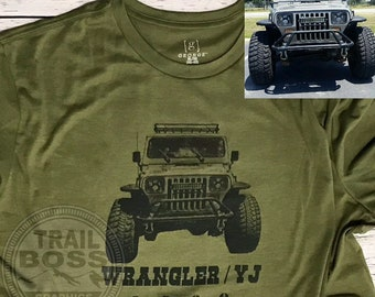 0fac3ad64a Your Custom Jeep, Car Truck, Jeep Enthusiast, Car EnthusiastT-Shirt. Front  and Back