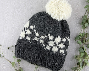 55b5f83829d Knitting pattern – Scandinavian Fair Isle Knitting Childrens Beanie