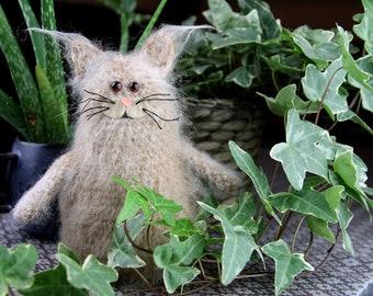 Crochet pattern - Make a furry crochet cat | Cat amigurumi crochet pattern | Crochet plush toy | The Furry Norwegian Forest Cat