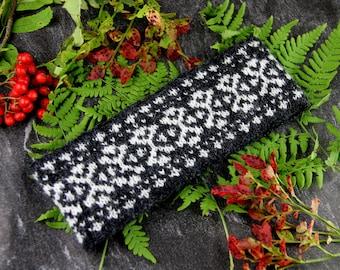 Knitting pattern - Scandi style headband | Fair Isle knit | Norwegian pattern