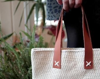 Crochet pattern - Spring Market Bag | Crochet Cotton Net | Mesh Market Bag | Do It Yourself Scandinavian Spring Bag | Make your own net