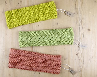 Knitting pattern - Moss stitch and cable knit headbands | Scandi forest headbands |  | Easy to understand | Norwegian and Scandinavian style