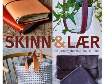 Skinn og lær - Norwegian leather crafts book - worldwide shipping - Søstrene Miljeteig