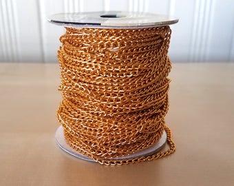 10 Yards 10.9mm Faux Gold Chain Destash Lot