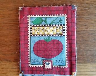 Gardening Label Fabric Pieces