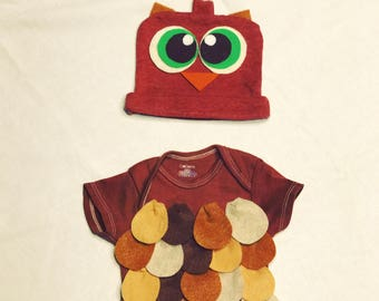 Baby Owl Onesie Costume With Hat
