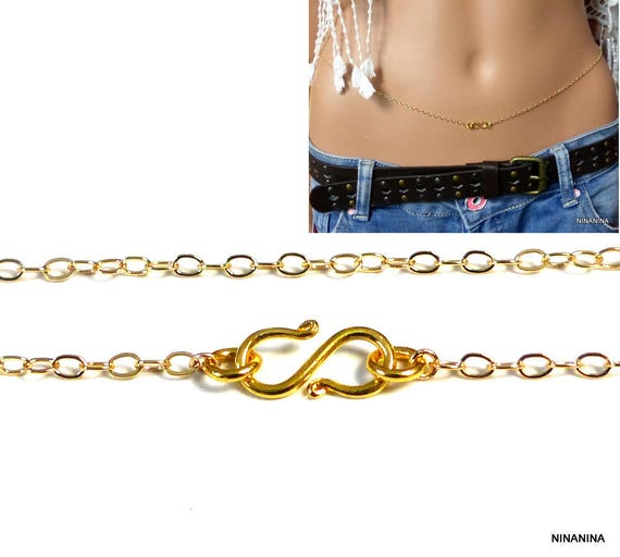 Chaine de taille plaqué or gold-filled N2656   Etsy ce4190ccc519
