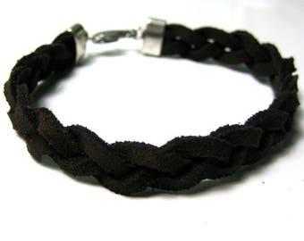 Braided suede N2691 men bracelet