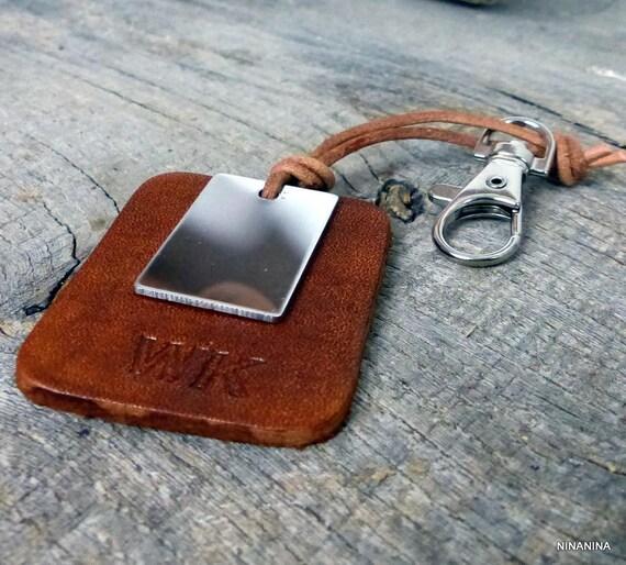 64633566a53c Porte-clé homme cuir personnalisé initiales N5250   Etsy