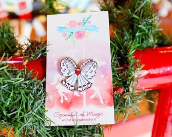 a34bb00caaf38 Spoonful of Magic Bow Pin! Jolly Holiday Pin- Hard enamel Pin- Gifts Under  15