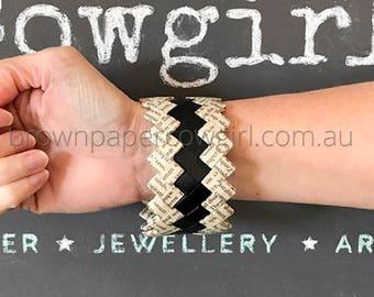 Handmade bracelet, geometric bracelet, gift for her, book art, woven bracelet, book jewellery, book jewelry, bangle, paper bracelet
