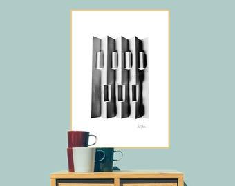 Printable wall art, Printable art, Art prints, Downloadable art, Instant download art, Abstract art print, Black and white art, Grey prints