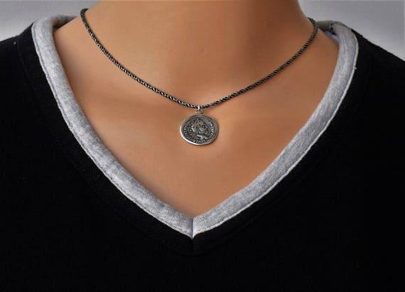 ras le cou collier argent avec pendentif