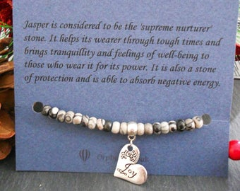 Summer vacation gift, inspirational, empowerement, spiritual healing, Love charm bracelet, Jasper Australian made, unique , gift for her,