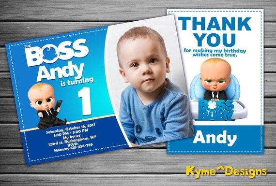 Boss Baby Invitation Boss Baby Birthday Boss Baby Party Etsy