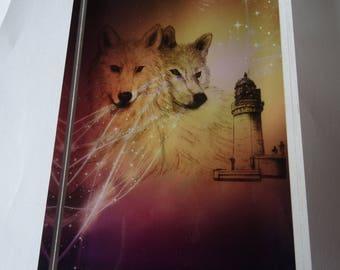 Bloc Plexi Loup et phare