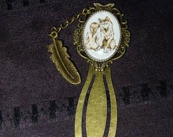 Paperclip bookmarks. bronze stars Noss Head pendant