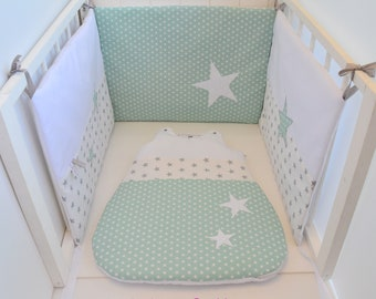 White and green handmade stars bed Tower @lacouturebytitia