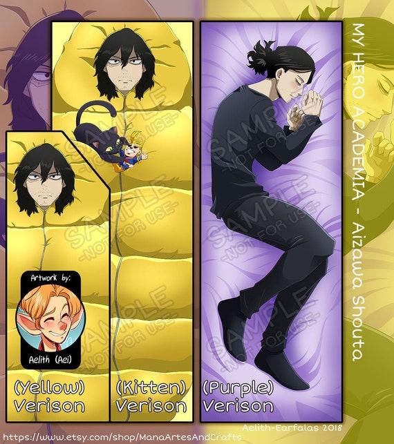 Dakimakura: Aizawa Shouta Double Sided Pillow Case Art by Aelith