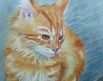 The adventurer, animal, pastel portrait