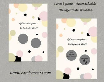 """Scratch - Message card all occasions - model """"Marion"""""""