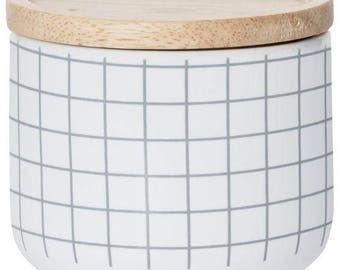 Scented Soy Canister Candle - Grey Grid