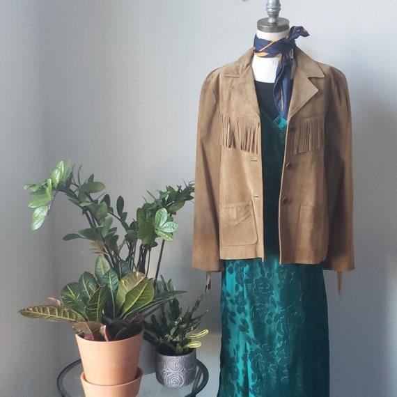 Vintage Suede Leather Fringe Jacket | Jones New Yo
