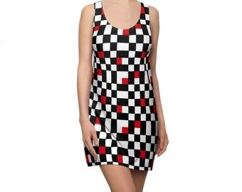 Checkered Mod Racerback Dress