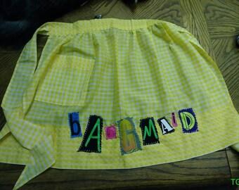 Yellow bang maid apron
