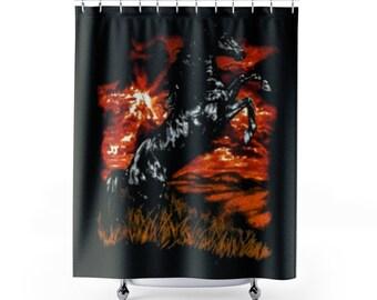 Charlie's Shirt Shower Curtain