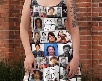 Serial Killers In Color Skater Dress