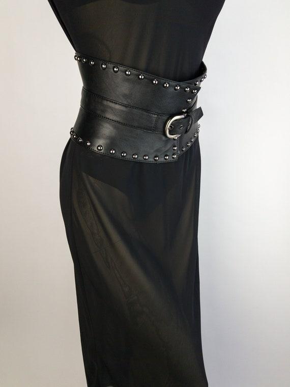 preview of exceptional range of colors official store Black Leather Corset Belt | Harness Peplum Belt | Waist Cincher | Sexy Wide  Leather Belt | Elegant Statement Belt | Gothic Biker Rock Belt