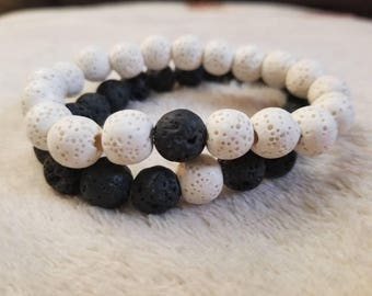 Natural Couples/Friendship Aroma Therapy Bracelets (2)
