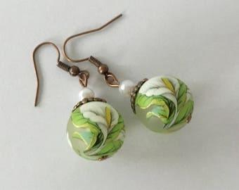 Earrings Japanese beads