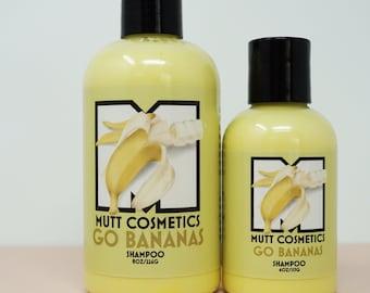 Banana & Vanilla Dog Shampoo, Natural Dog Shampoo, Dog Shampoo, Fresh Shampoo, Dog Grooming, Dog Bath Supplies, Go Bananas Dog Shampoo