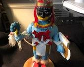 Huitzilopochtli Kachina Aztec God of War - Wood Carved Doll-Super Rare - One of a Kind (Azteca Mexica) 1990