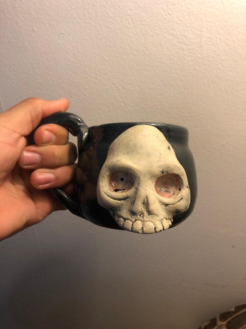 Pre-Hispanic Style Rare Aztec Skull Coffee Mug Mexico New