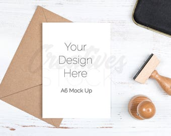 Download Free Card Mockup, Styled Stock Photograph, Stationery Mock Up, A6 Card, Greetings Card Mockup, PSD Smart Object & JPEG, Instant Digital Download PSD Template