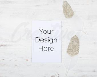 Download Free Wedding Mockup, Styled Stock, Card Mockup, A6 Card, Invitation Mockup, Boho Wedding, PSD Smart Object & JPEG, Instant Digital Download PSD Template